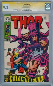 Thor #168 CGC 9.2 Signature Series Signed Stan Lee Galactus Origin Marvel comic